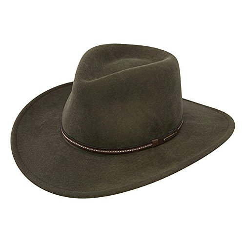 Stetson Men's Gallatin Sage Green Crushable Wool Hat Sage X-Large