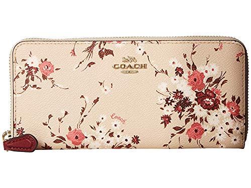 COACH Women's Floral Bundle Slim Accordion Zip Beechwood