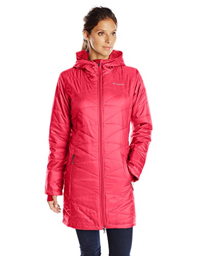 Columbia Women's Mighty Lite Hooded Jacket, Red Camellia