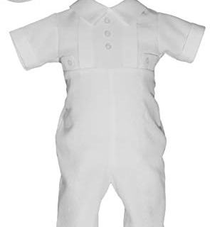 Little Things Mean A Lot Waffle Pique Boy's Christening Baptism Coverall