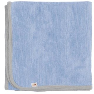 Cocooi Merino Blanket, Sky/Light Grey, For Newborn Babies