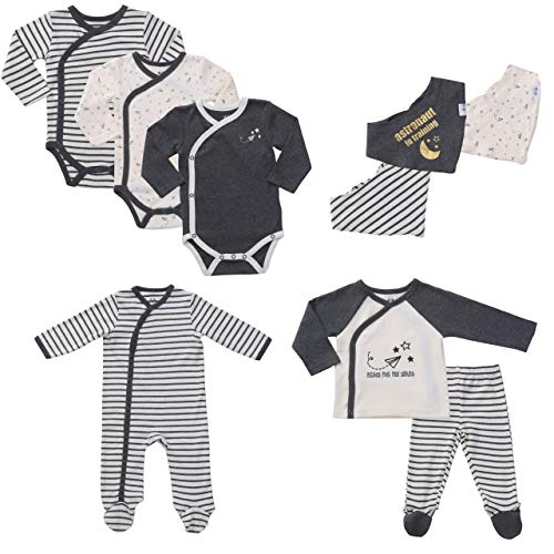 9-Piece Layette Set Unisex Baby Boy Gifts Set