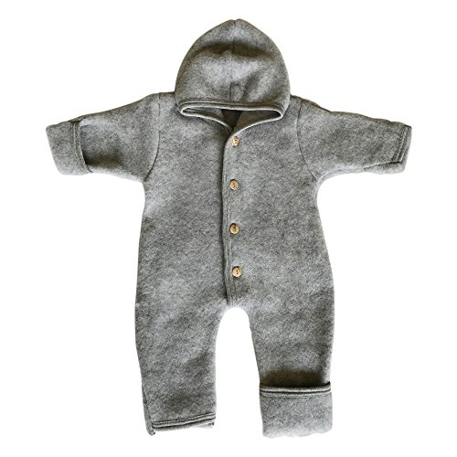 EcoAble Apparel Baby Fleece Snowsuit Footed Coverall Romper