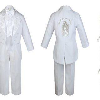 Baby Boy Kid Christening Baptism Church White Tail Suit