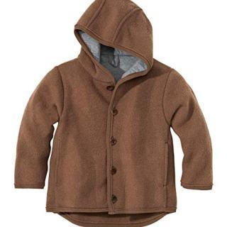 Disana Baby Boys' Coat In Organic Boiled Merino Wool