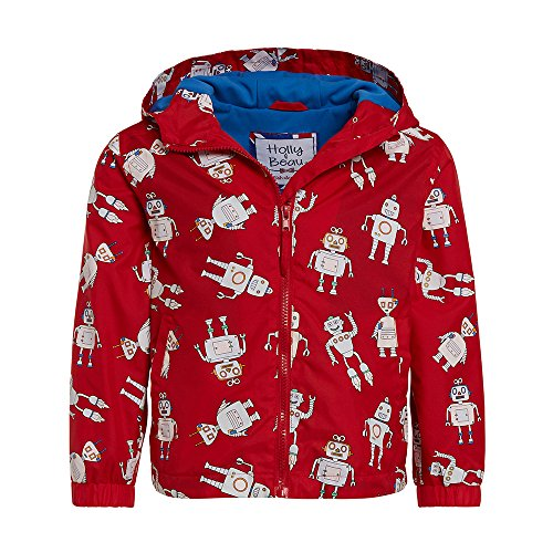 Boys Robot Patterned Color Changing Raincoat by Holly & Beau