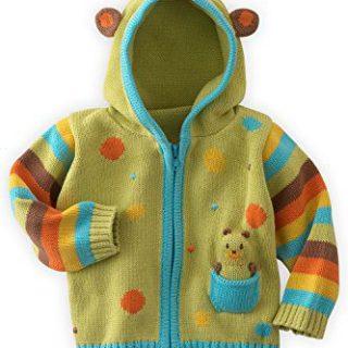 Joobles Organic Baby Cardigan Sweater - Huggy the Bear