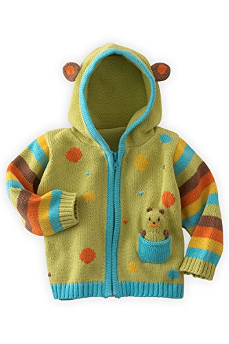 Joobles Organic Baby Cardigan Sweater - Huggy the Bear