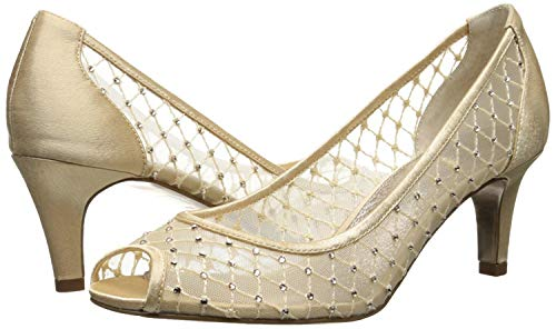 Adrianna Papell Women's Jamie Dress Pump, Nude Saba Mesh
