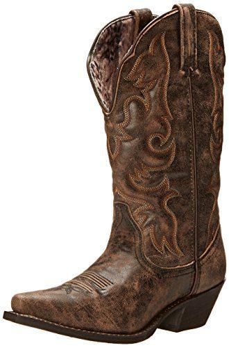 Laredo Women's Access Western Boot, Black/Tan