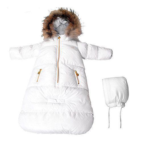 BEBEBON Baby Winter Bunting Snowsuit Fur Hoodie Unisex Newborn