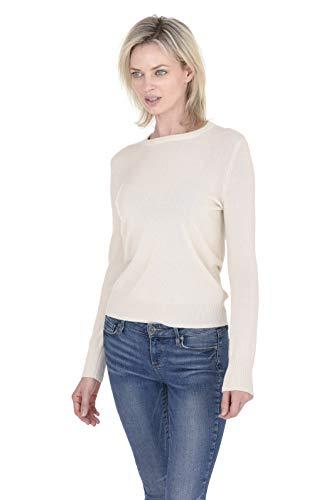 Cashmeren Women's 100% Pure Cashmere Classic Knit Soft Long Sleeve