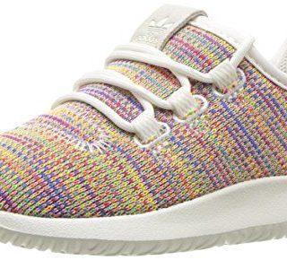 adidas Originals Baby Tubular Shadow Running Shoe, White Blue