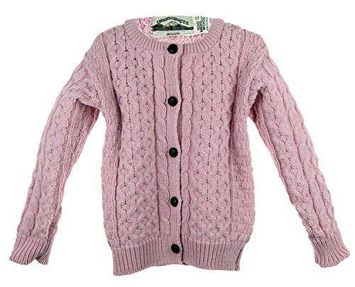Irish Merino Wool Aran Children's Button Sweater