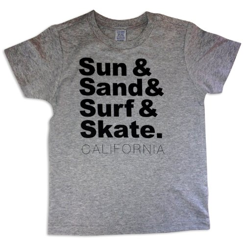 Sol Baby Sun and Surf California Grey Tee