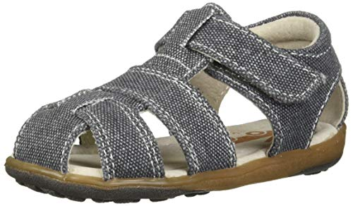 See Kai Run Boys' Jude IV Fisherman Sandal Gray Canvas