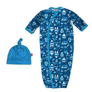 Magnificent Baby Magnetic Modal Sack Gown and Hat Set