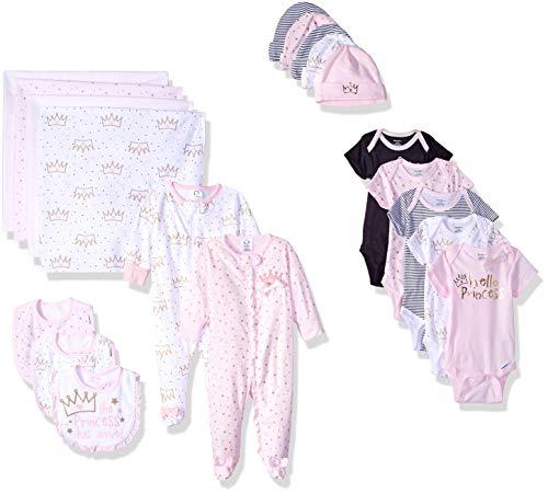 Gerber Baby Girls' 19-Piece Essentials Gift Set