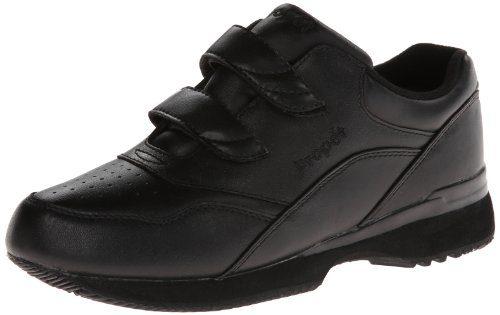 Propet Women's Tour Walker Strap Sneaker,Black