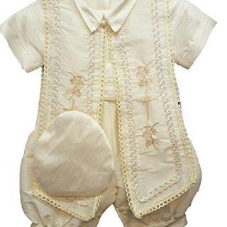 Newdeve Baby Boys Christening Baptism Set Ivory Outfit
