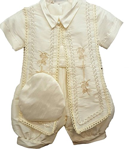 Newdeve Baby Boys Christening Baptism Set Ivory Outfit
