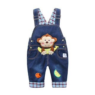 Baby Kids Denim Overalls Boys Girls Toddler Jeans