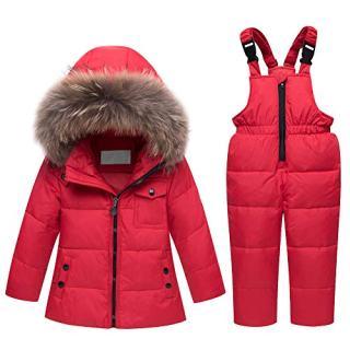 M&A Baby Girls Boys Winter Down Coat Fur Hooded Puffer Jacket
