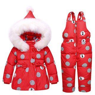 Baby Girls Snowsuit Toddler Puffer Hooded Jacket
