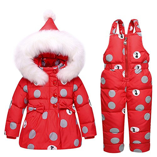 Baby Girls Snowsuit Toddler Puffer Hooded Jacket