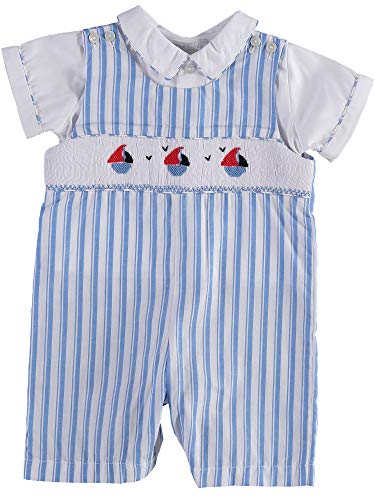 Carriage Boutique Baby Boy Short Romper