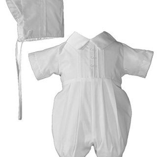 Little Things Mean A Lot Boys Polycotton Christening Baptism Romper