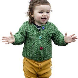 Carraig Donn Baby Wool Irish Jacket Sweater