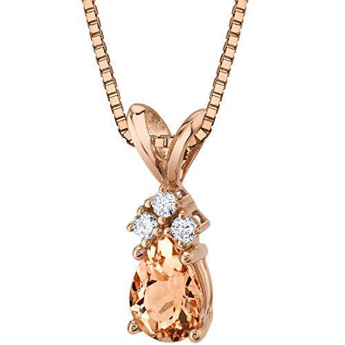 14 Karat Rose Gold Pear Shape 0.75 Carats Morganite