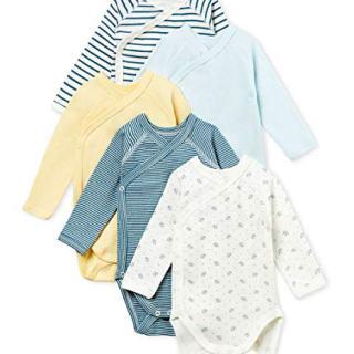 Petit Bateau Baby Boy's Newborn Bodysuit - Set of 5 Sizes