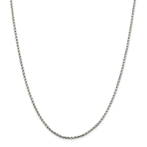 Sterling Silver 2.25mm Twisted Box Chain