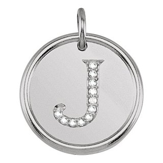 Jewels By Lux 925 Sterling Silver .05 CTW Diamond Initial