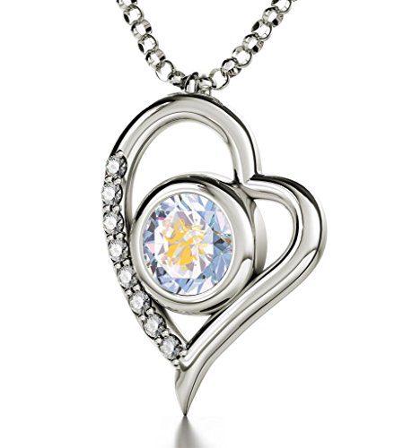 Nano Jewelry Sterling Silver Zodiac Heart Pendant Virgo Necklace
