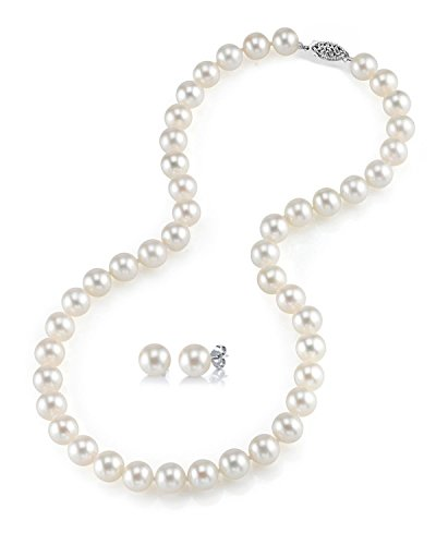 THE PEARL SOURCE 14K Gold 6.5-7mm AAAA Quality Round White