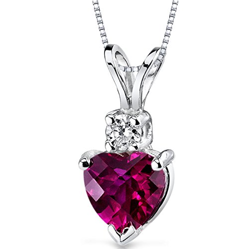 14 Karat White Gold Heart Shape 1.00 Carats Created
