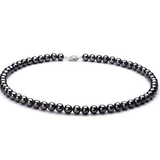 Black 6-7mm AA Quality Freshwater Sterling Silver Cultured Pearl