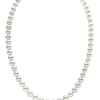 7-8mm Round White Freshwater Cultured Pearl Necklace