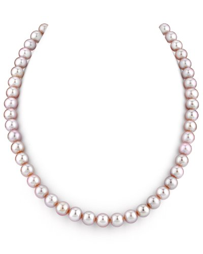 THE PEARL SOURCE 14K Gold 7-8mm AAA Quality Pink Freshwater Cultured Pearl