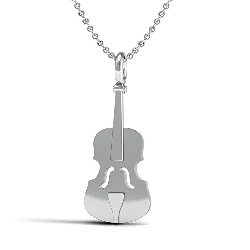 The Best Violin, Viola, Cello Pendant Necklace, Sterling Silver