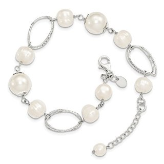 Sterling Silver Freshwater Cultured Pearl 8.5 Inch Bracelet Fine Jewelry Gifts