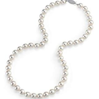THE PEARL SOURCE 14K Gold 6.0-6.5mm AAA Quality Round