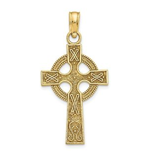 Jewels By Lux 14K Yellow Gold Celtic Cross Pendant