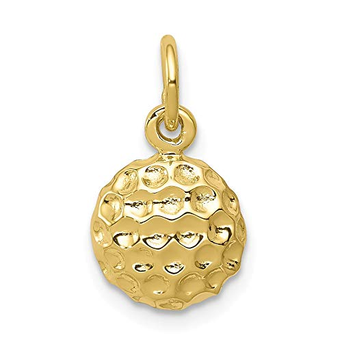 10k Yellow Gold Golf Pendant Charm Necklace Sport Fine Jewelry Gifts