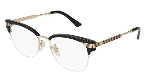 Gucci GG Black Plastic Eyeglasses 50mm