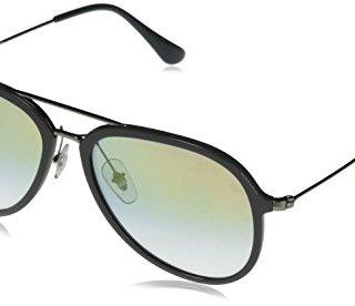 Ray-Ban Aviator Sunglasses, Grey/Gold Gradient