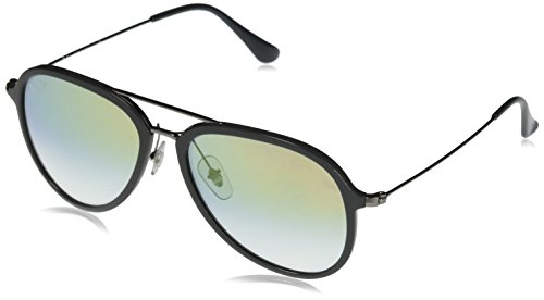 Ray-Ban Aviator Sunglasses, Grey/Gold Gradient